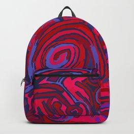 Red blue symbols Backpack