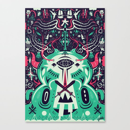 Spirit of the gods Canvas Print