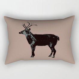 Reindeer Silhouette Rectangular Pillow