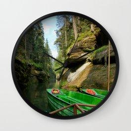 A path to joy Wall Clock
