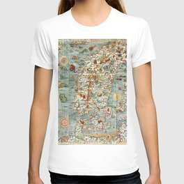 Carta Marina, map of Scandinavia by Olaus Magnus - 1539 T-shirt