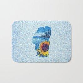 Lake Tahoe Sunflower Bath Mat