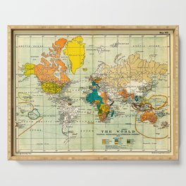 Map of the old world Serving Tray