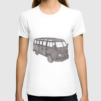 volkswagon T-shirts featuring Tangled VW Bus - side view by Cherry Creative Designs