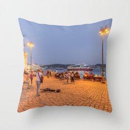 Istanbul At Night Throw Pillow