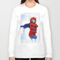 magneto Long Sleeve T-shirts featuring Magneto Lego by Toys 'R' Art