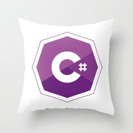 C# logo for csharp developers visual studio Throw Pillow