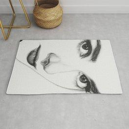 Audrey Hepburn (minimal) Rug