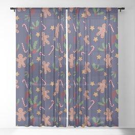 Christmas Xmas pattern Sheer Curtain