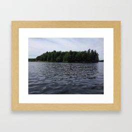 Lake Island Framed Art Print