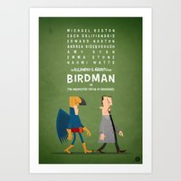 birdman Art Prints featuring Birdman by Diego Riselli