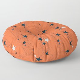 Orange Juice Stars Floor Pillow