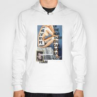 woman Hoodies featuring The North American Woman by Matthew Billington