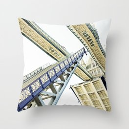 Tower Bridge 02A - Going Up Throw Pillow