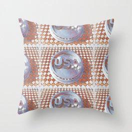 Retro USA Graphic Throw Pillow