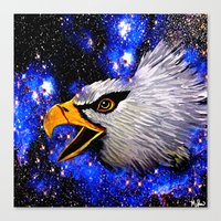 eagle Canvas Prints featuring Eagle by Saundra Myles