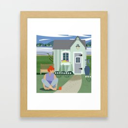Garden Shed Framed Art Print