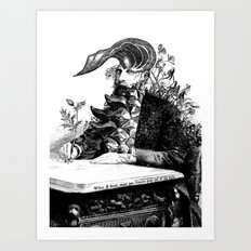 When I think about you, flowers grow out of my brain. Art Print