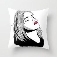 sky ferreira Throw Pillows featuring Sky Ferreira by BUGS