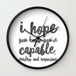 I hope you know Wall Clock