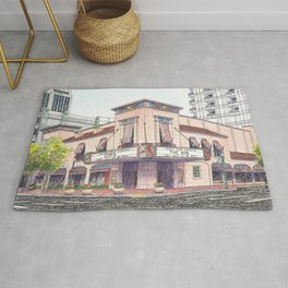 Boise Egyptian Theater Watercolor Painting Rug