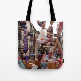 Fallas is an UNESCO world heritage Valencia, Spain Tote Bag