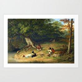 Cornelius Krieghoff Midday Rest Art Print