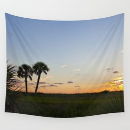 Sunset in Fort De Soto Wall Tapestry