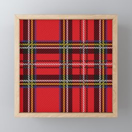 red kilt Framed Mini Art Print