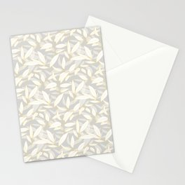 Olive tree leaves - yellow and grey Stationery Cards