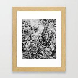 Bird and Bee Framed Art Print