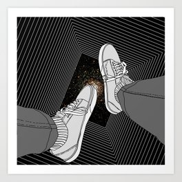 FALLING INTO THE SPACE Art Print