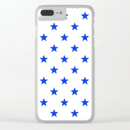 Stary stars - blue stars pattern Clear iPhone Case