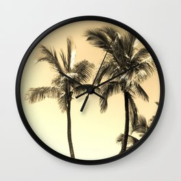 Simple palm trees in the sun Wall Clock