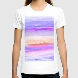 New World Horizon Shades of Lavender, Peach and Pink T-shirt