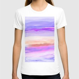 New Horizon Shades of Lavender, Peach and Pink T-shirt