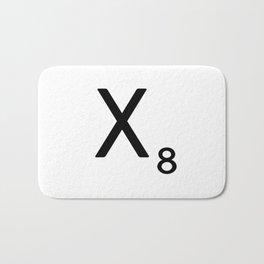 Letter X - Custom Scrabble Letter Tile Art - Scrabble X Initial Bath Mat