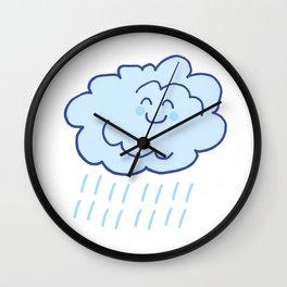 Rainy Floof Wall Clock