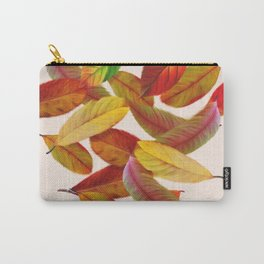Fall Autumn Feathers Leaves Carry-All Pouch