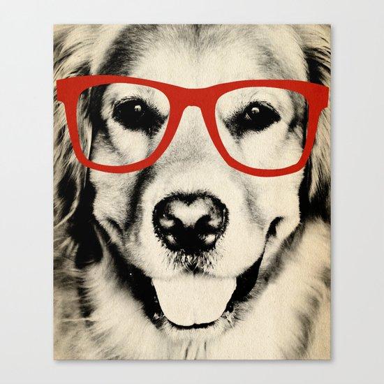 NERDY DOG Canvas Print