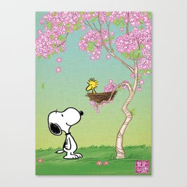 Woodstock in the Cherry Blossoms Posters Canvas Print