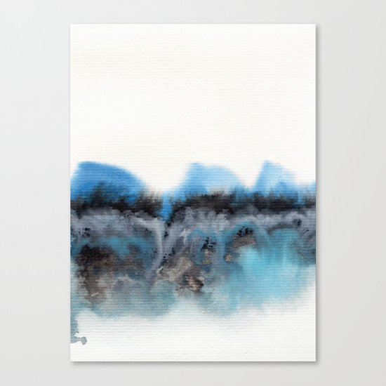 Watercolor abstract landscape 11 Canvas Print