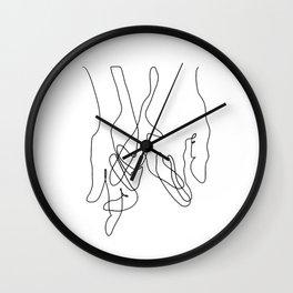 Finger Swear Wall Clock