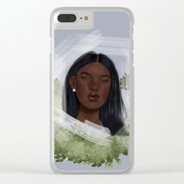 Entrapped in the Strokes of Nature Clear iPhone Case