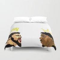 kendrick lamar Duvet Covers featuring 2 Kings. Kendrick Cole by MikeHanz