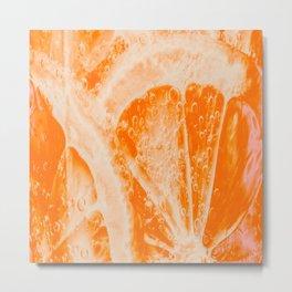 orange fruite slice Metal Print
