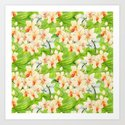 Tropical Floral Orchid Flower Pattern - Flowers on #Society6 by originalaufnahme