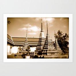 Wat Po Temple in Thailand (Bangkok & Travel) - Thai Massage School II Art Print