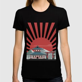 Japan Shirt Rising Sun Pagoda Red Imperial Japanese Torii Gate T-shirt