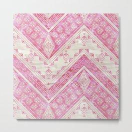 Jirra Chevron {pink and creme} Metal Print